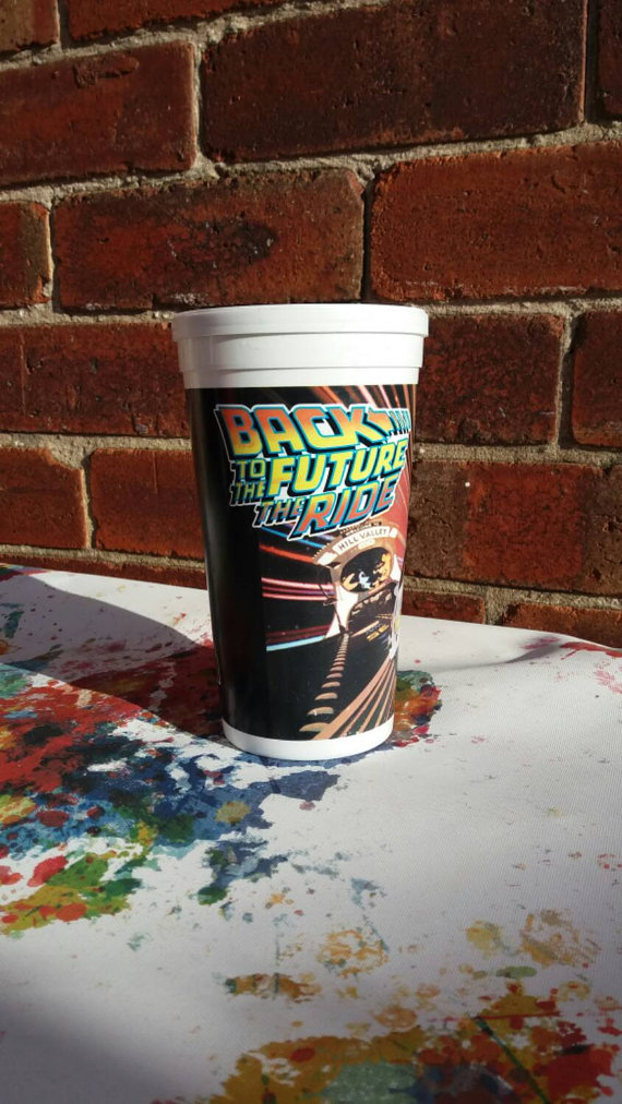 Back to the Future 1980's retro Universal Studios Ride Theme park cup - £10 plus shipping -  click here