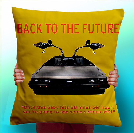 Back to the Future Retro Style - Cushion/Pillow Cover/Panel/Fabric - From £5 plus shipping -  click here