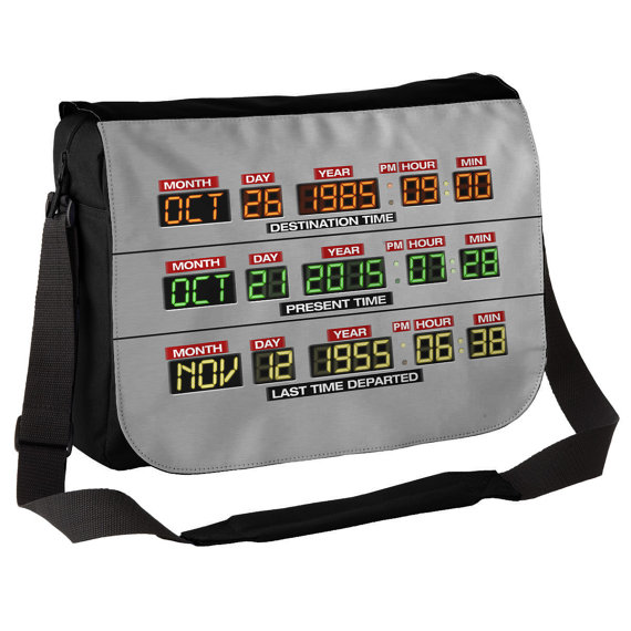 DeLorean Dashboard - Back to the Future Inspired Messenger Bag - £19.99 plus shipping -  click here