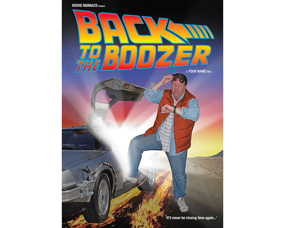 Back to the Future Film Poster Staring YOU - £29.95 plus shipping -  click here