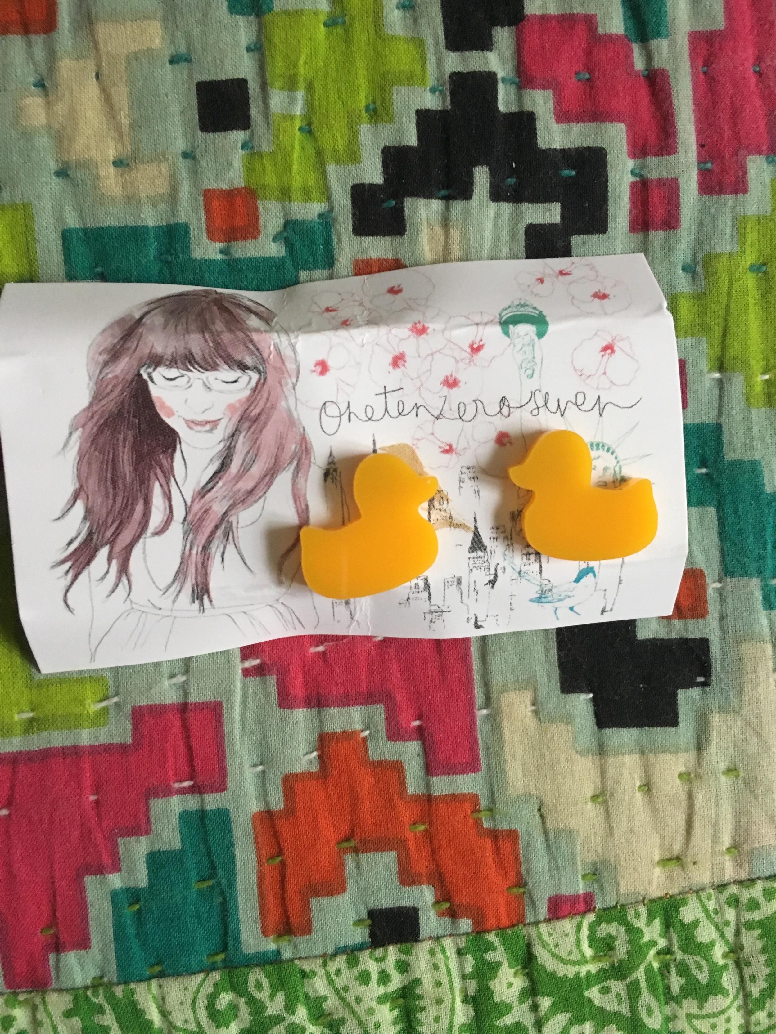Rubber Duck Earrings from OneTenZeroSeven