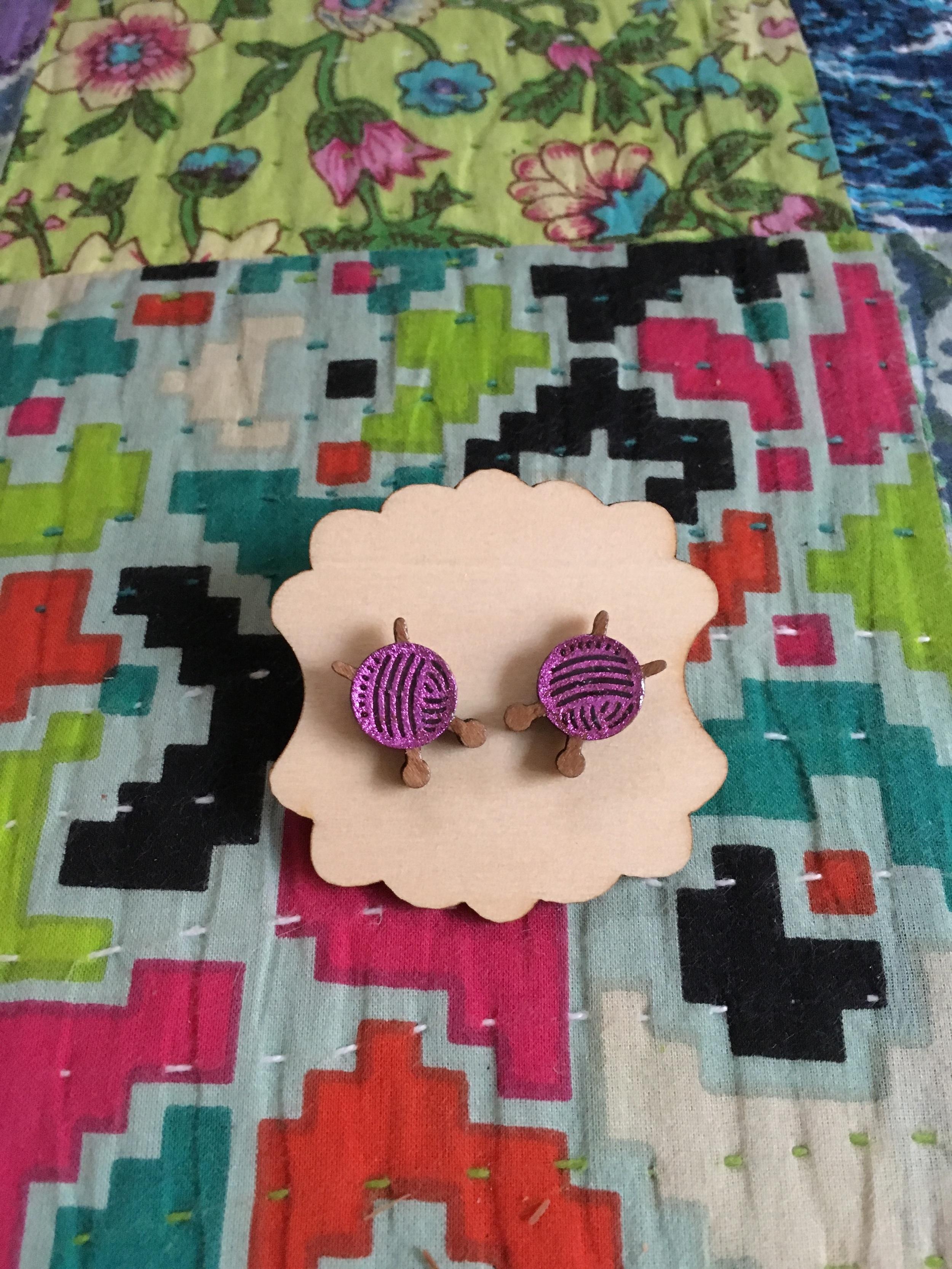Day 7 & knitting ball earrings