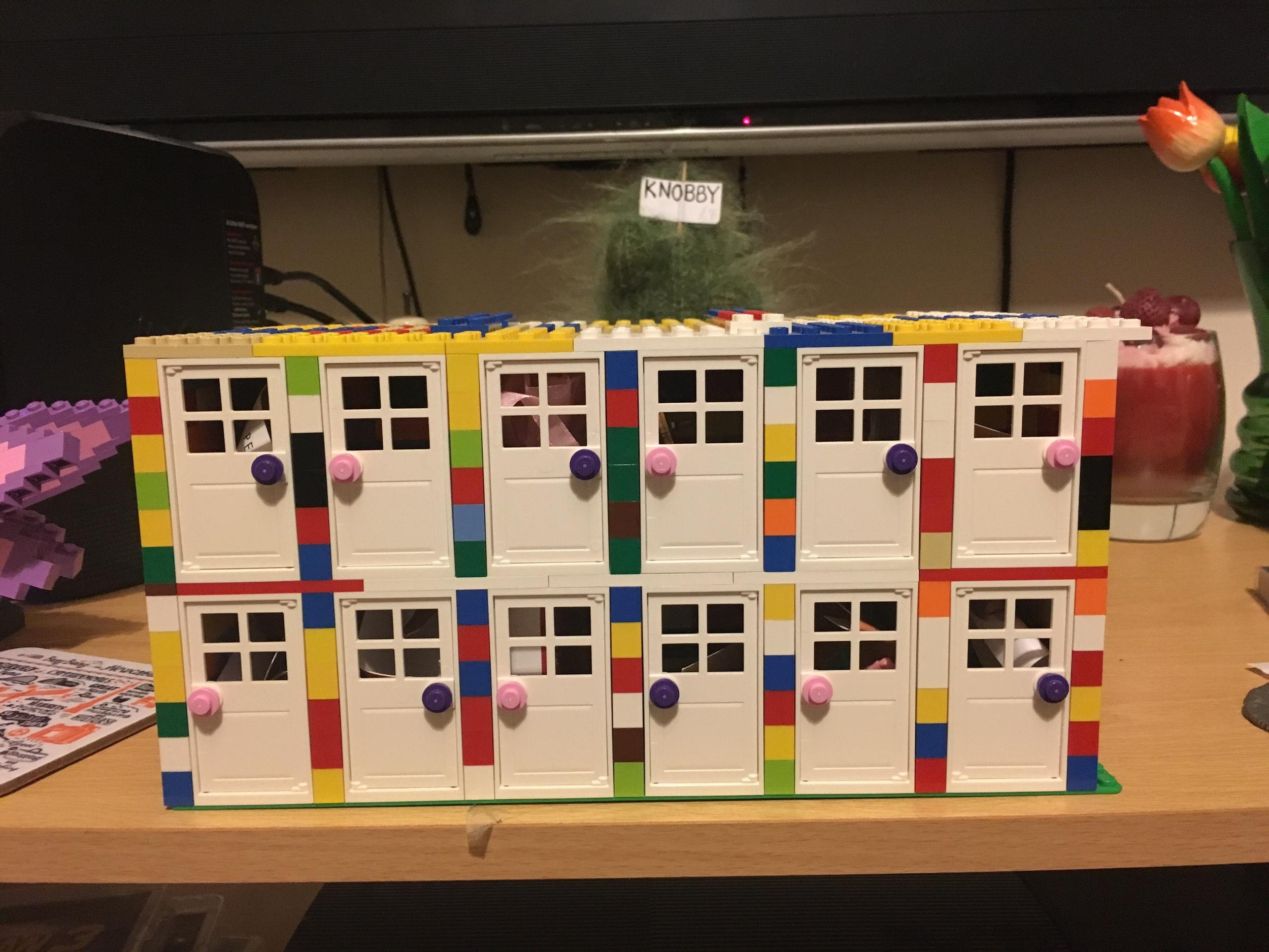 The Lego Advent Calendar I built for Mrs Penguin