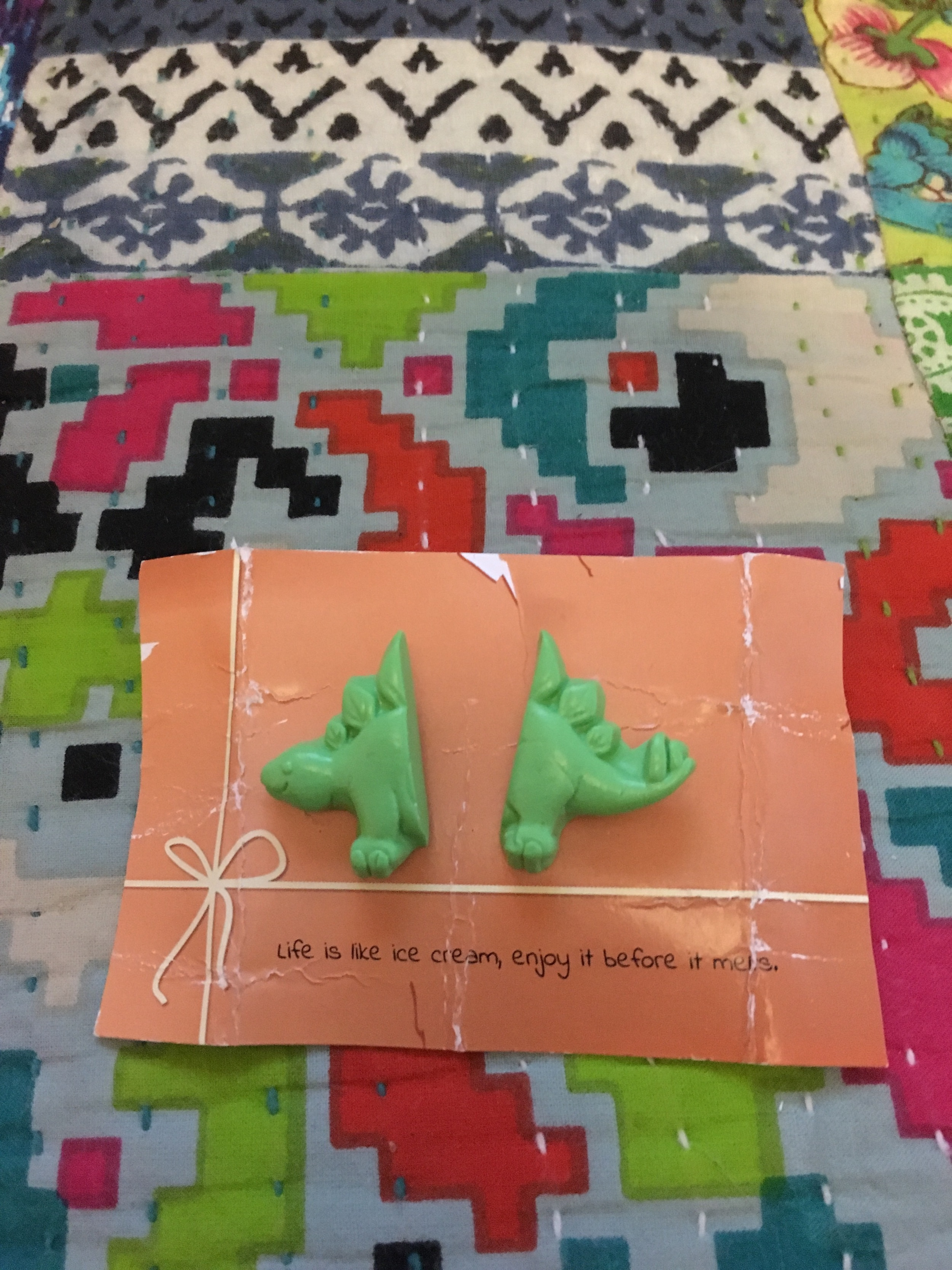 Day 16 & Dinosaur earrings