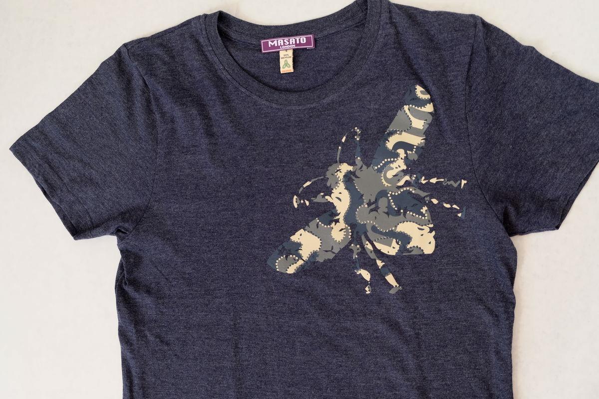 Bee Navy Melange T-Shirt  £28