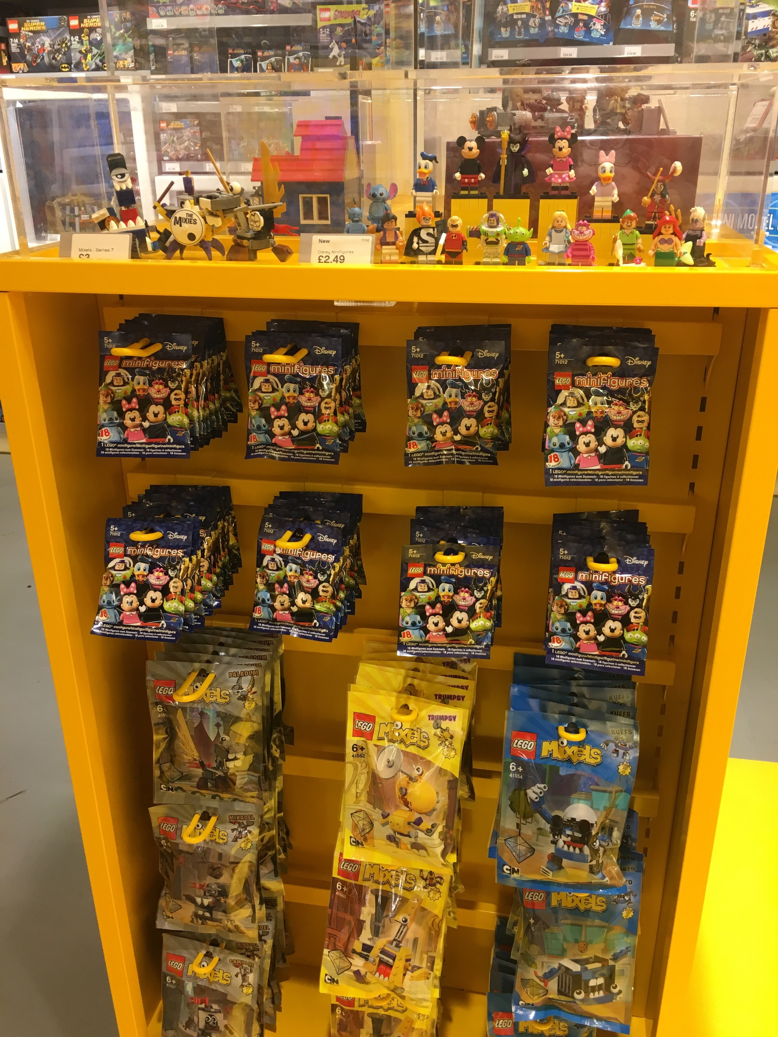 The Disney Lego Minifigures are back in stock after selling out after an hour when there were released