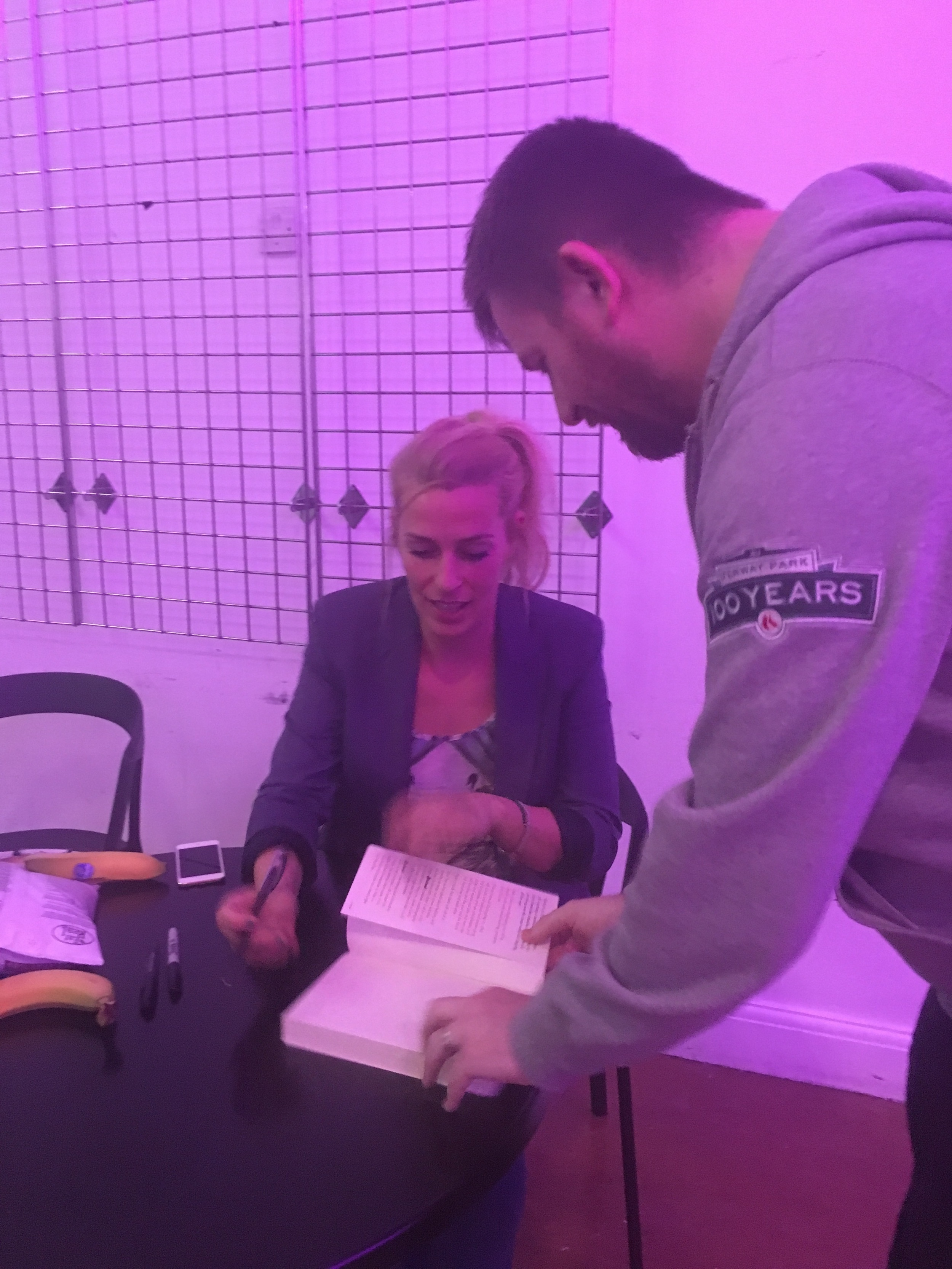 Sara Pascoe signing her book after we saw her comedy show at Brighton Dome