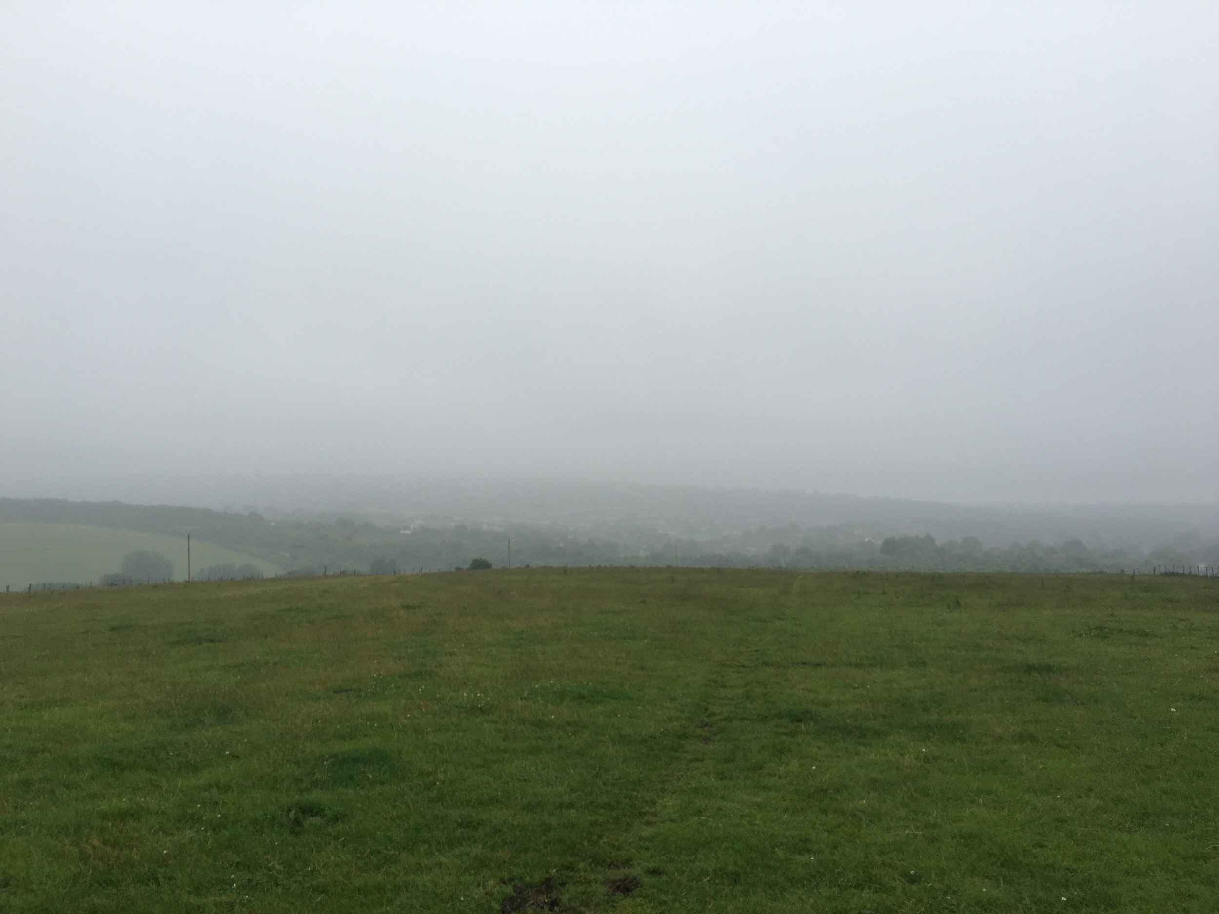 The view of my walk along the South Downs this morning