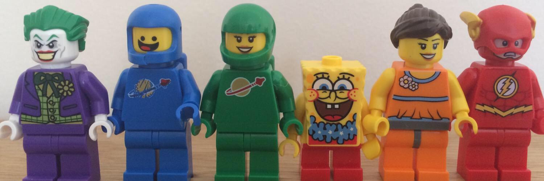 My Lego Minifigure rainbow flag I did for Pride
