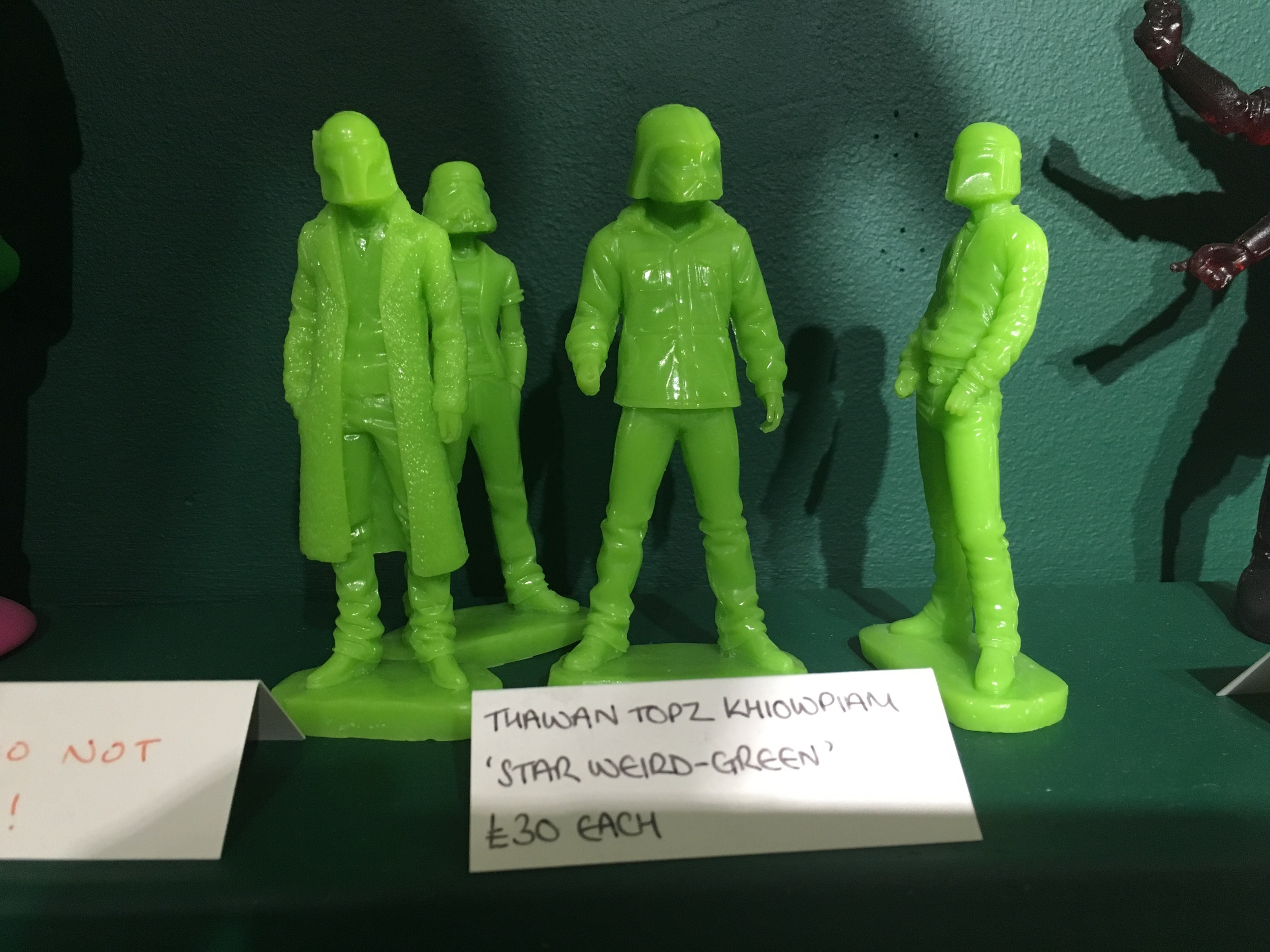 Some of the cool art toys in Dynamite Gallery