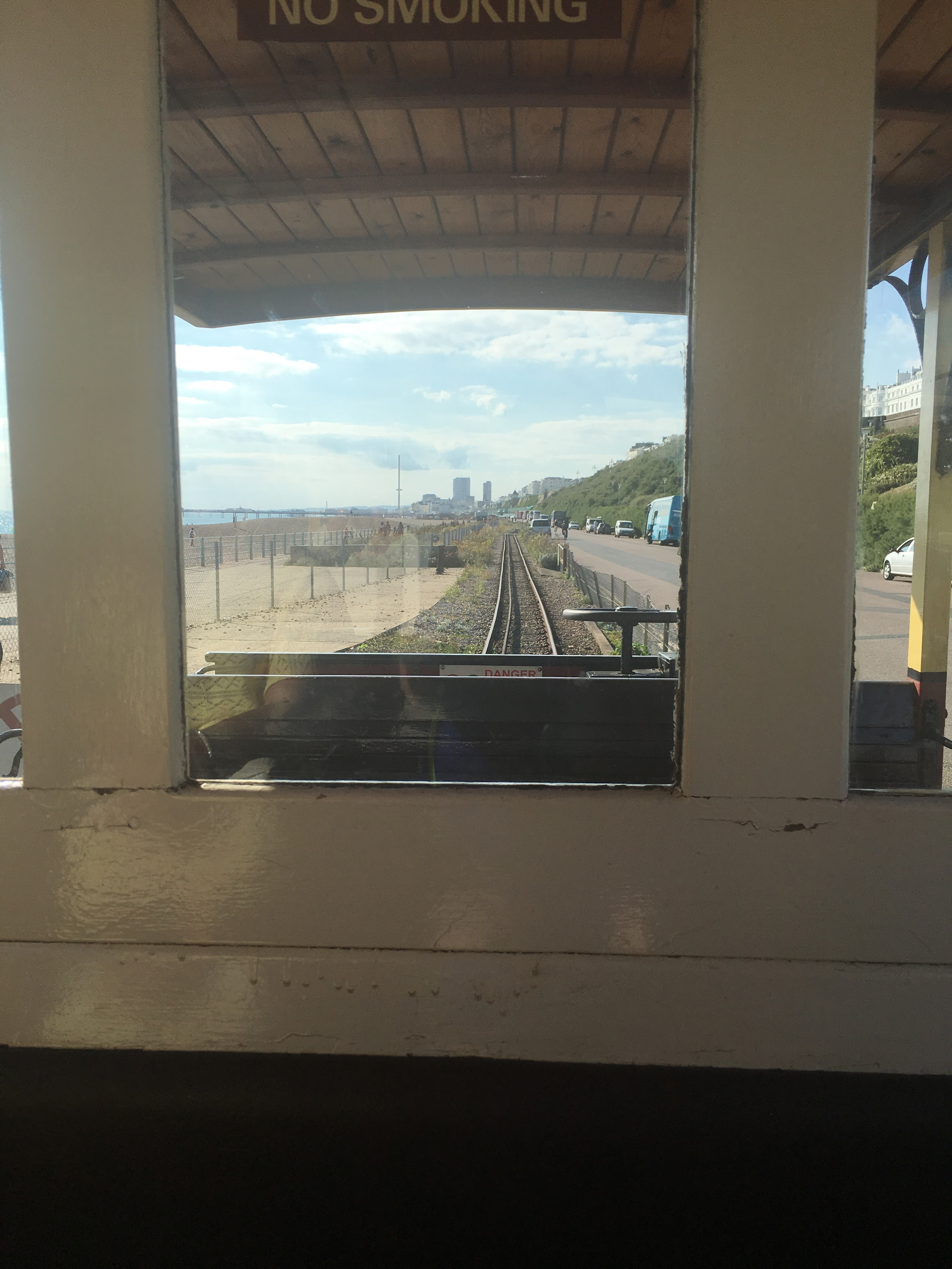 Our trip back from the Marina via Volks Railway