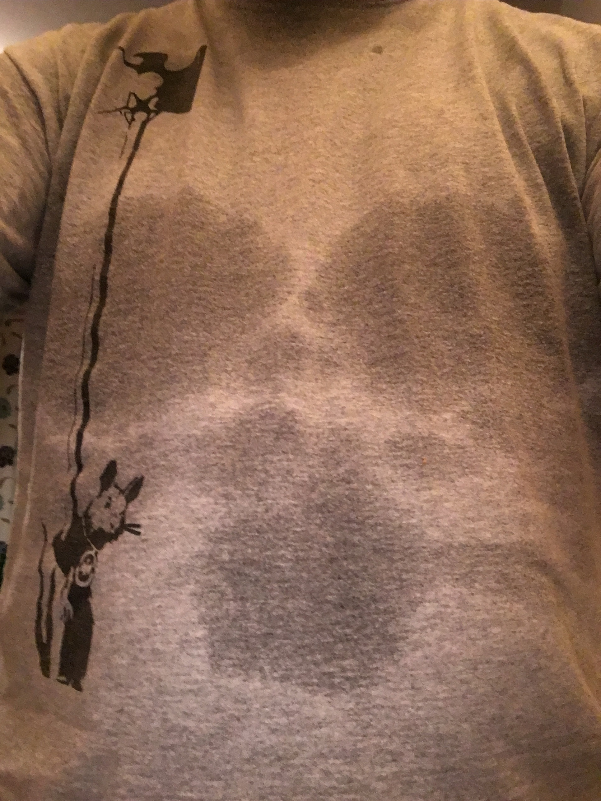 First gym workout since the 100km & skeleton sweat marks