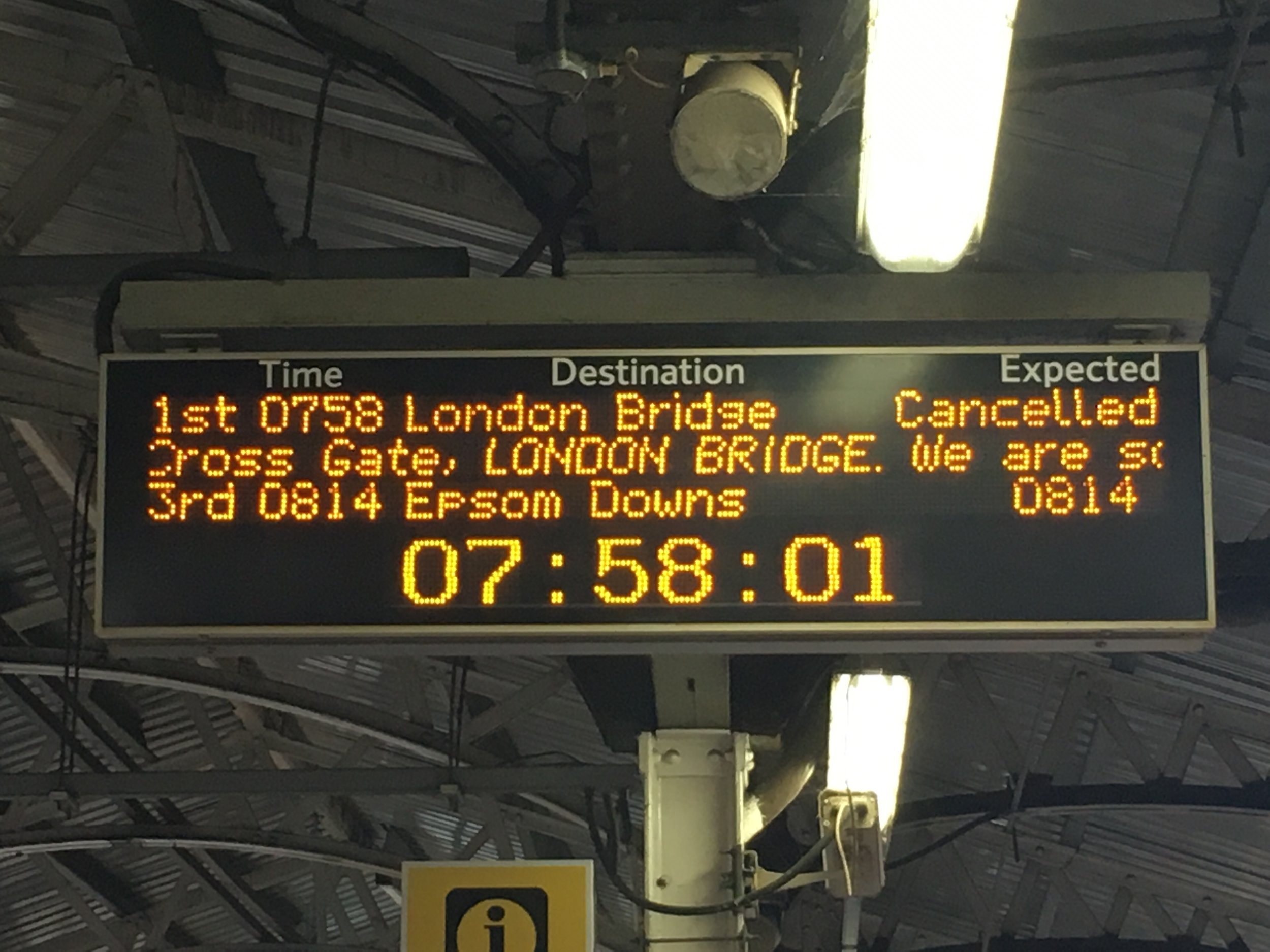 Week of cancelled trains & train strikes