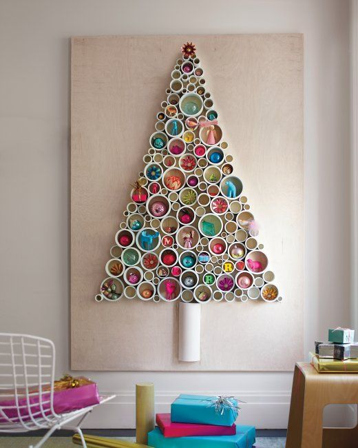 Pipe Christmas Tree - via  funcraftskids.com