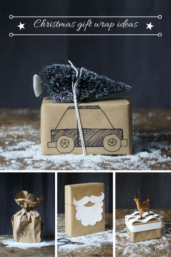 Gift Wrap Ideas - via  Heather Young