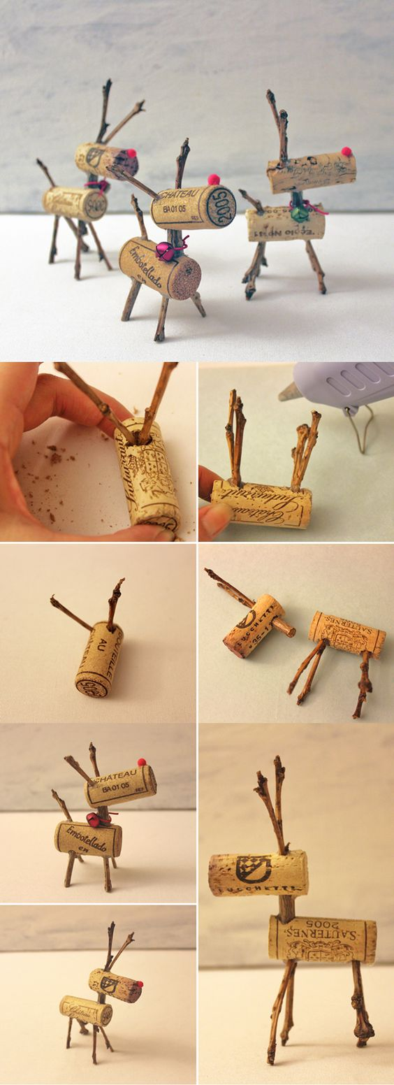 Reindeer Corks (43) and 42 other DIY Wine Cork Craft Ideas - via  DIY Projects