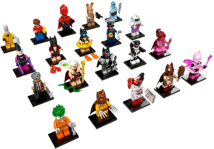 The Lego Batman Movie Collectable Minifigures - £2.99 per blind pack. Chance of 1 of 20 figures (you can try to feel the packets to work out which figure you might get)