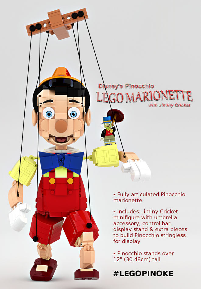 Disney's Pinocchio LEGO Marionette with Jiminy Cricket   As of 1/3/17 2120 Supporters, 218 Days Left   Read More