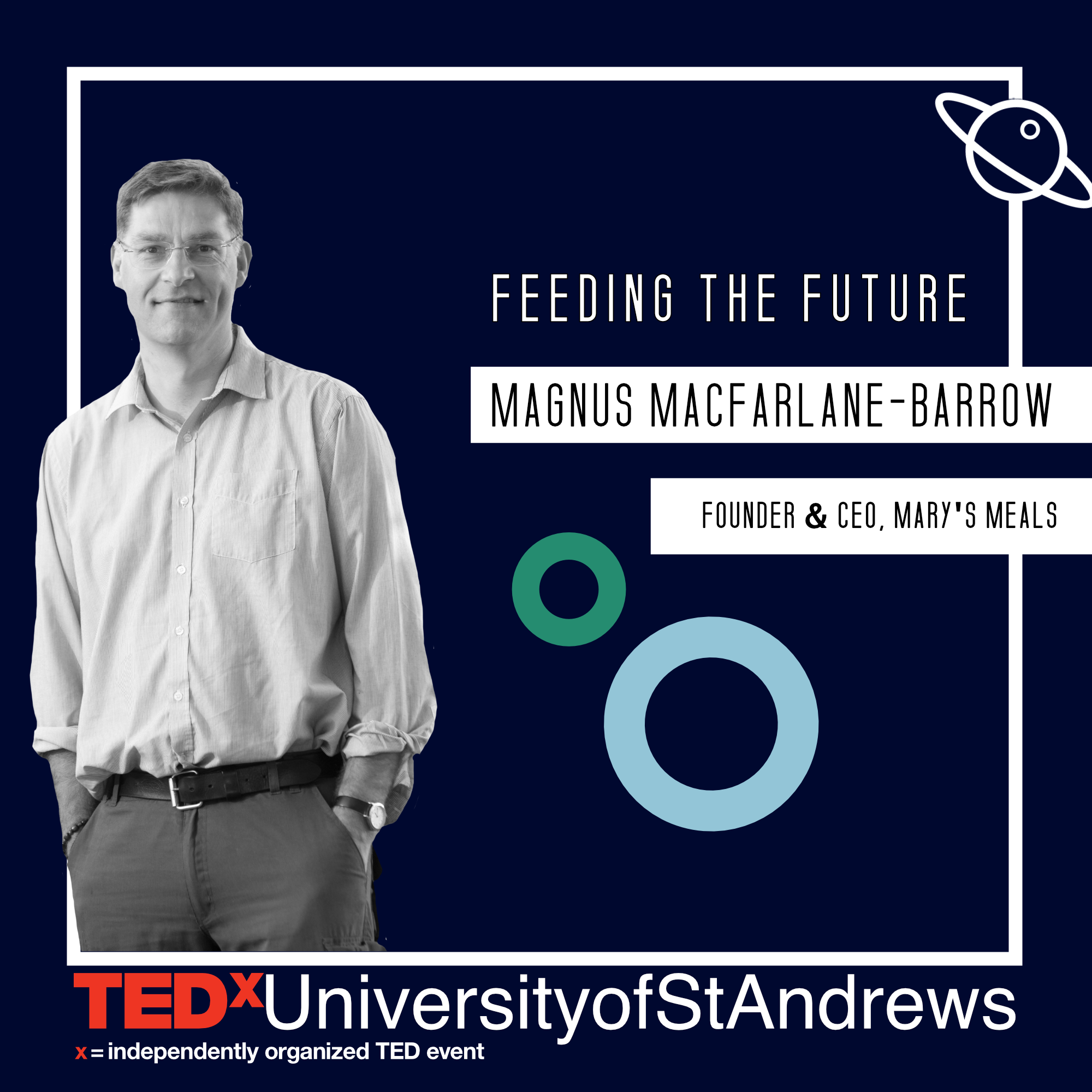 """MAGNUS MACFARLANE-BARROW   Magnus MacFarlane-Barrow OBE is founder and chief executive of Mary's Meals, a global charity that provides a daily meal in a place of education to more than one million of the world's poorest children. The meal attracts children to the classroom, where they gain a basic education that can provide an escape route from poverty.  During a trip to Malawi in 2002, Magnus met a family whose predicament was to spark a change in not only his own life, but in the lives of thousands of others. Lying on the floor of a hut was a mother named Emma, who was dying of AIDS. Her six children were around her and Magnus asked the eldest son, Edward, what he hoped for from life. """"To have enough to eat and to go to school one day,"""" was his answer. Edward's words inspired a mission to attract children to school by providing daily meals, and it was from this that Mary's Meals was born. One child at a time, through Mary's Meals, Magnus has let children all over the world know they matter.  From feeding just 200 in southern Malawi in 2002, the charity now works with communities in 12 countries, providing a meal for 1,187,104 children every school day. The cost of feeding a child for a whole school year with Mary's Meals is just £12.20."""