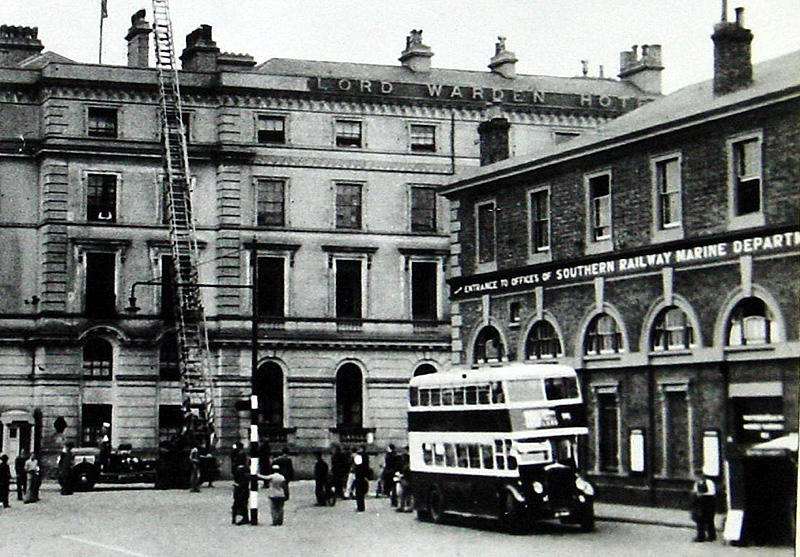 he Town Station and Lord Warden Hotel in the 1930s