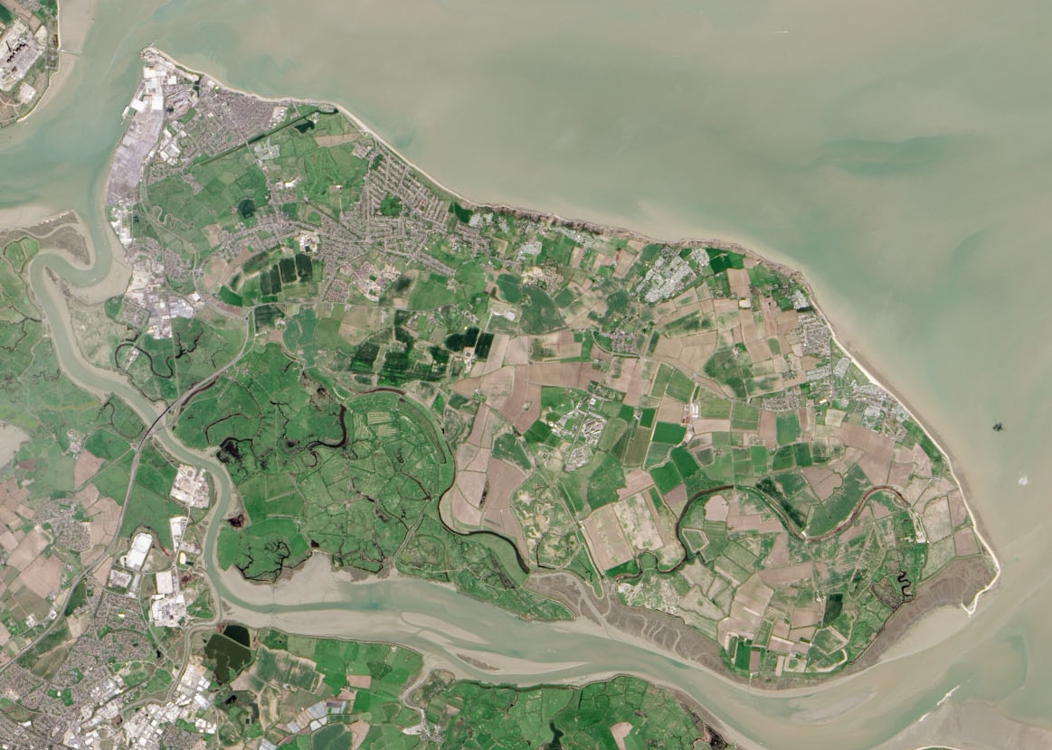 Isle of Sheppey from above.