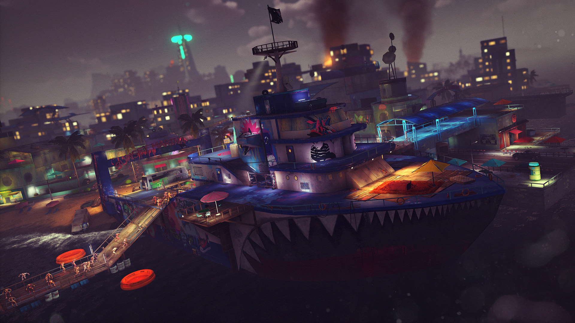 sunset-overdrive-review-boat-fort-chaos.jpg