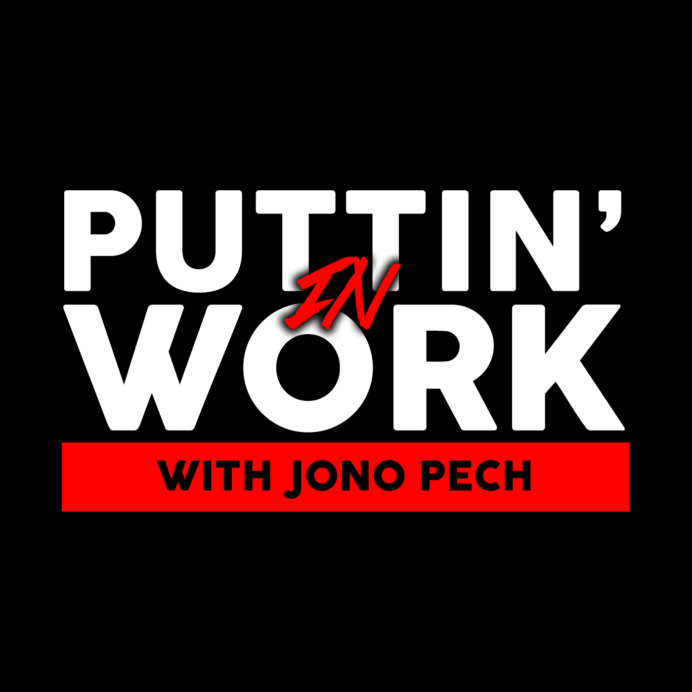PUTTIN' IN WORK    Jono Pech's interview podcast Puttin' In Work explores the grit and grind of the creative process, revealing the greatest challenges behind the scenes for artists, authors, producers, YouTubers, designers, musicians, game developers, and a multitude of content creators all over the world. Each week, Jono presents an inspiring story of hard work that aims to motivate listeners, regardless of their interests.