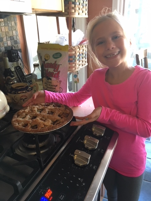 This was a GF apple pie my daughter made that is not in the book, but she said it was delicious and only used stevia to sweeten the apples.