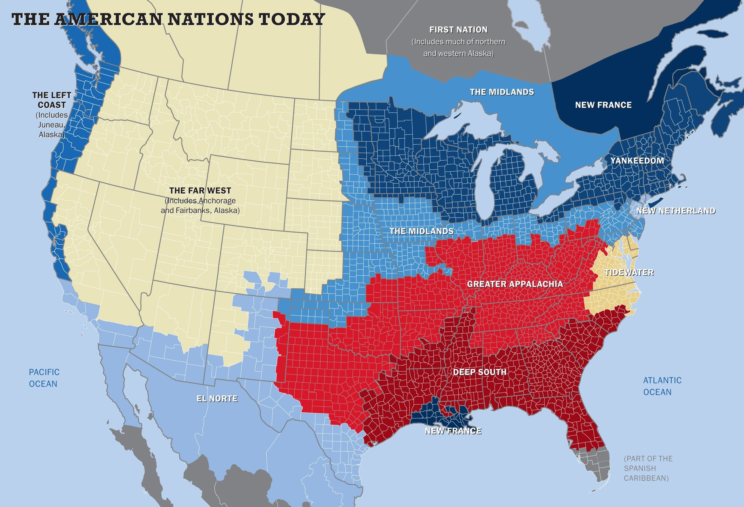 Business Insider: This map shows the US really has 11 separate 'nations' with entirely different cultures