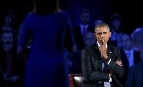 CNN:A pause in the shouting: Obama, critics connect at town hall on guns