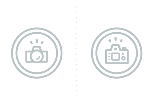 Client vs. Photographer-Facing Camera Icons