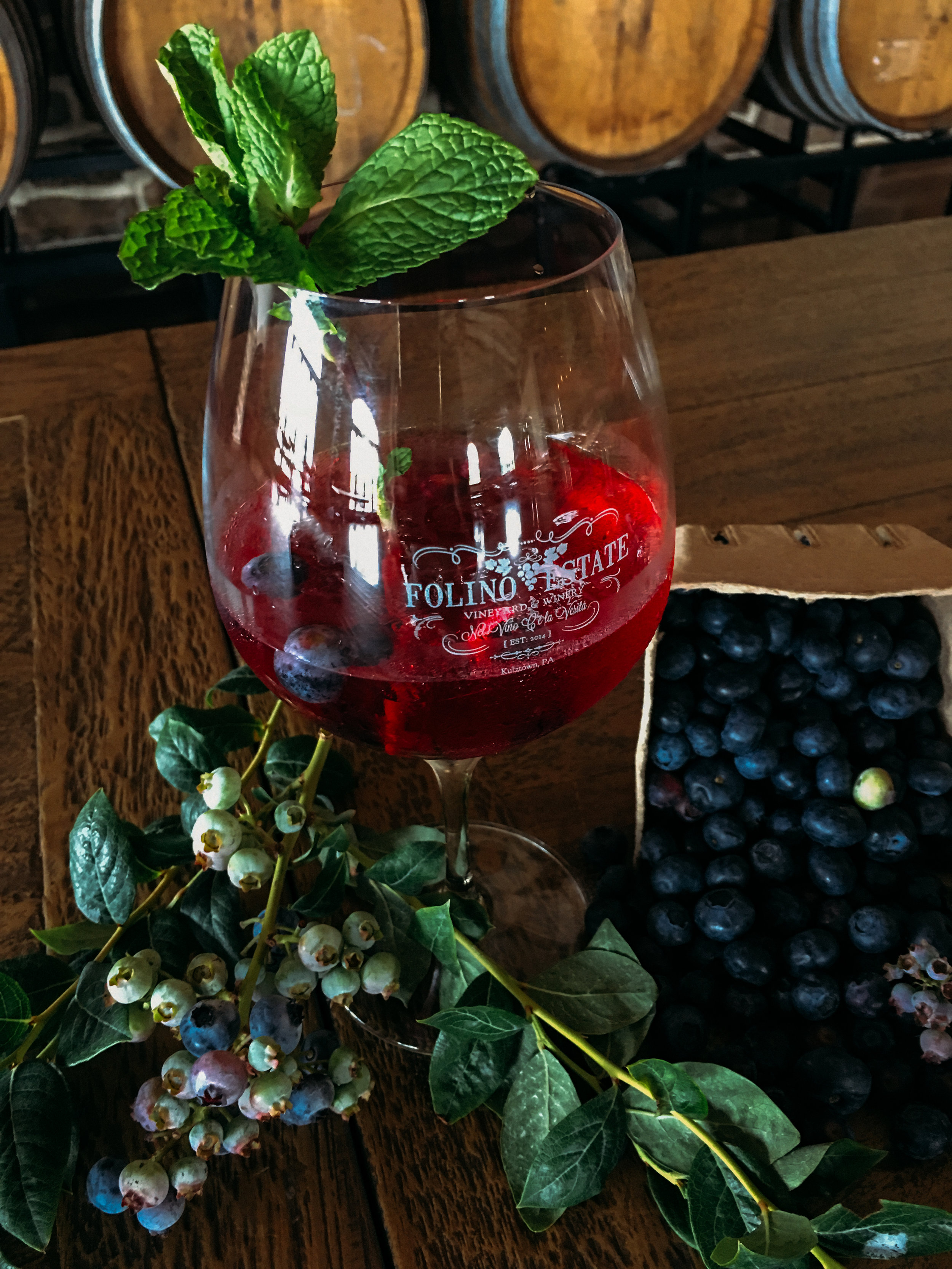 July Sangria: Blueberry Mint