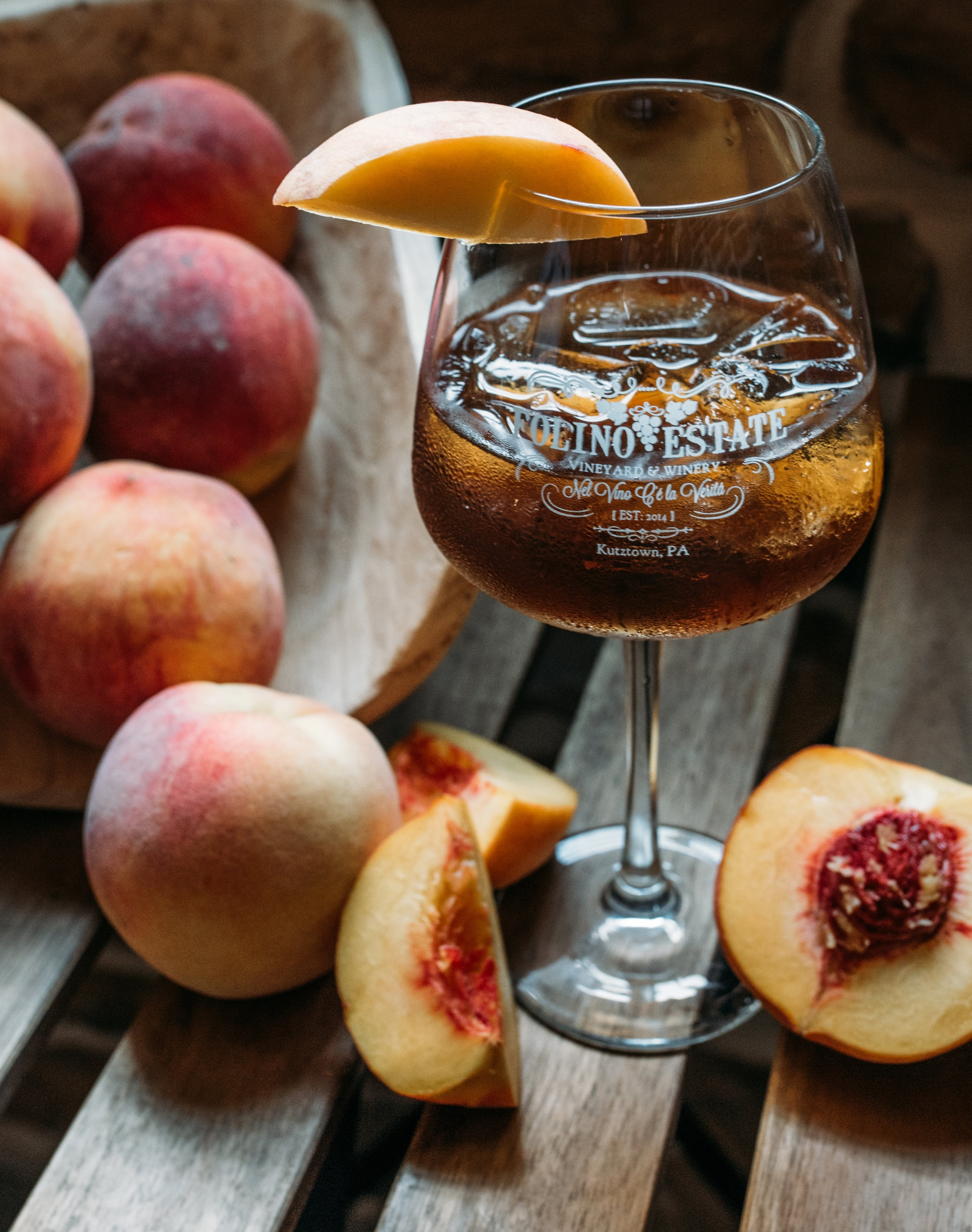 August Sangria: Peach Tea