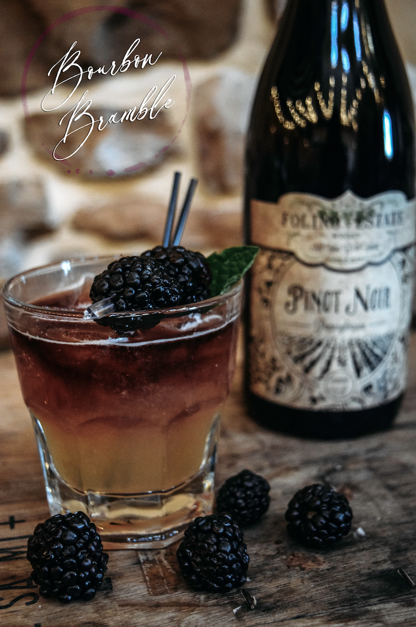 Bourbon Bramble with Pinot Noir