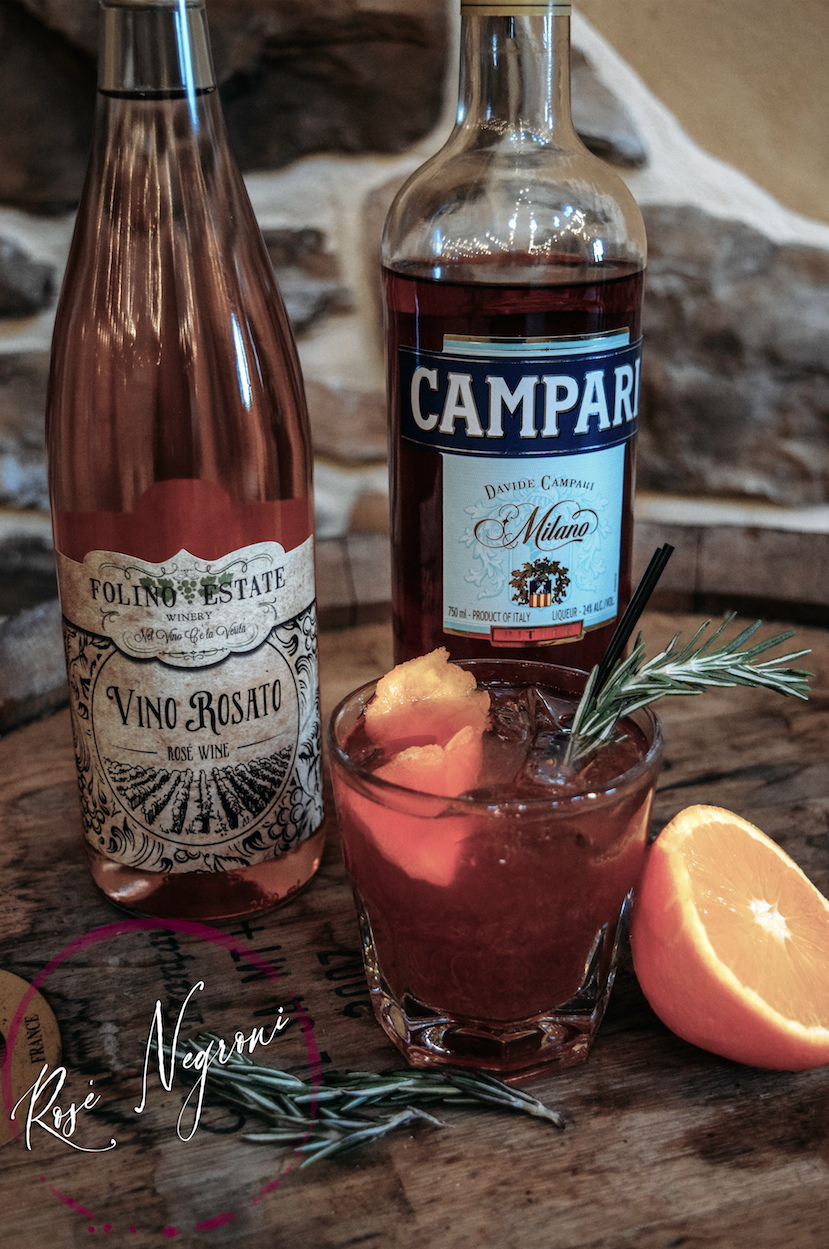Rose Negroni with Vino Rosato