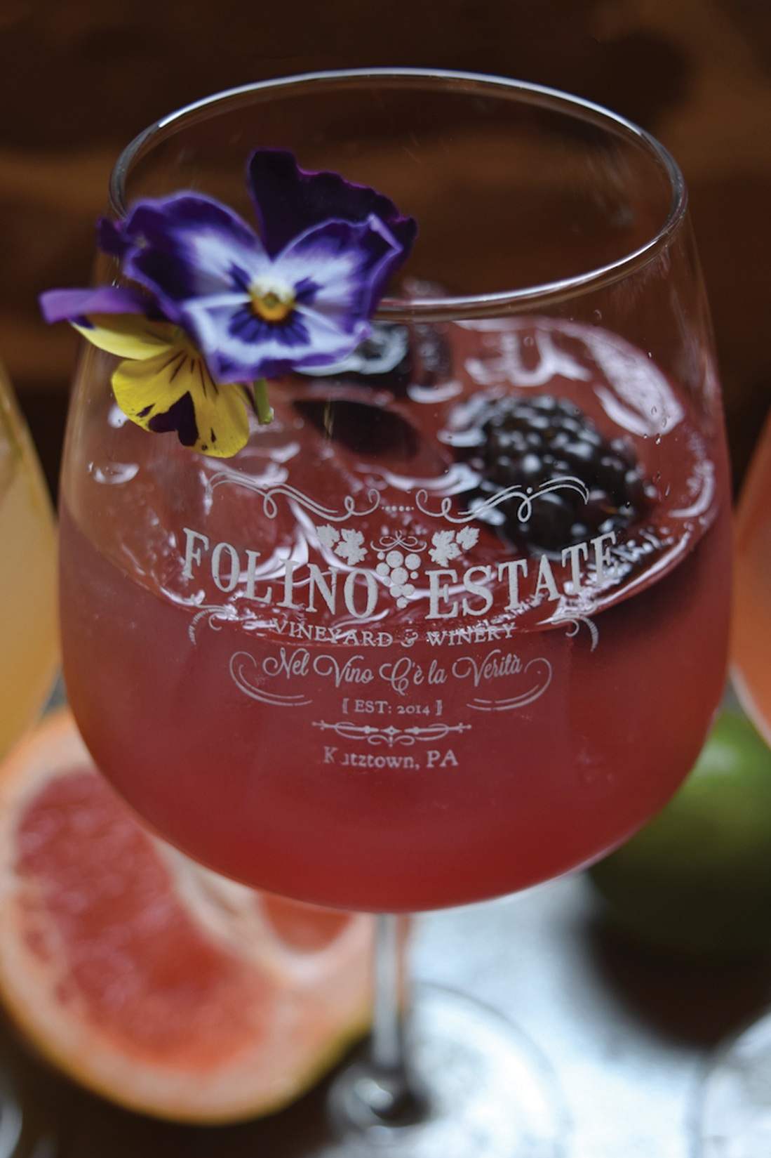 April Sangria: Blackberry Elderflower