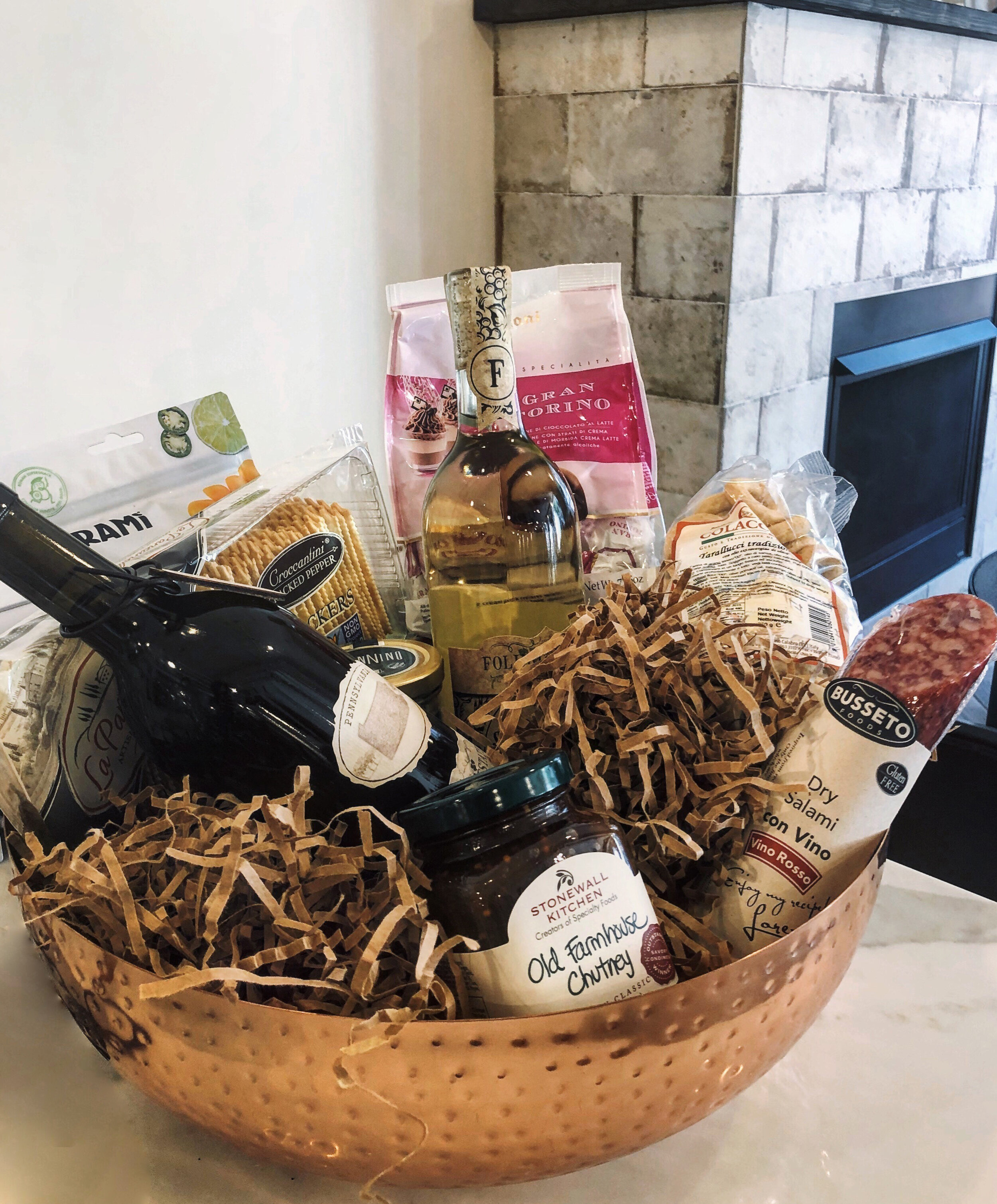 A gift basket is the perfect way to give the gift of wine!