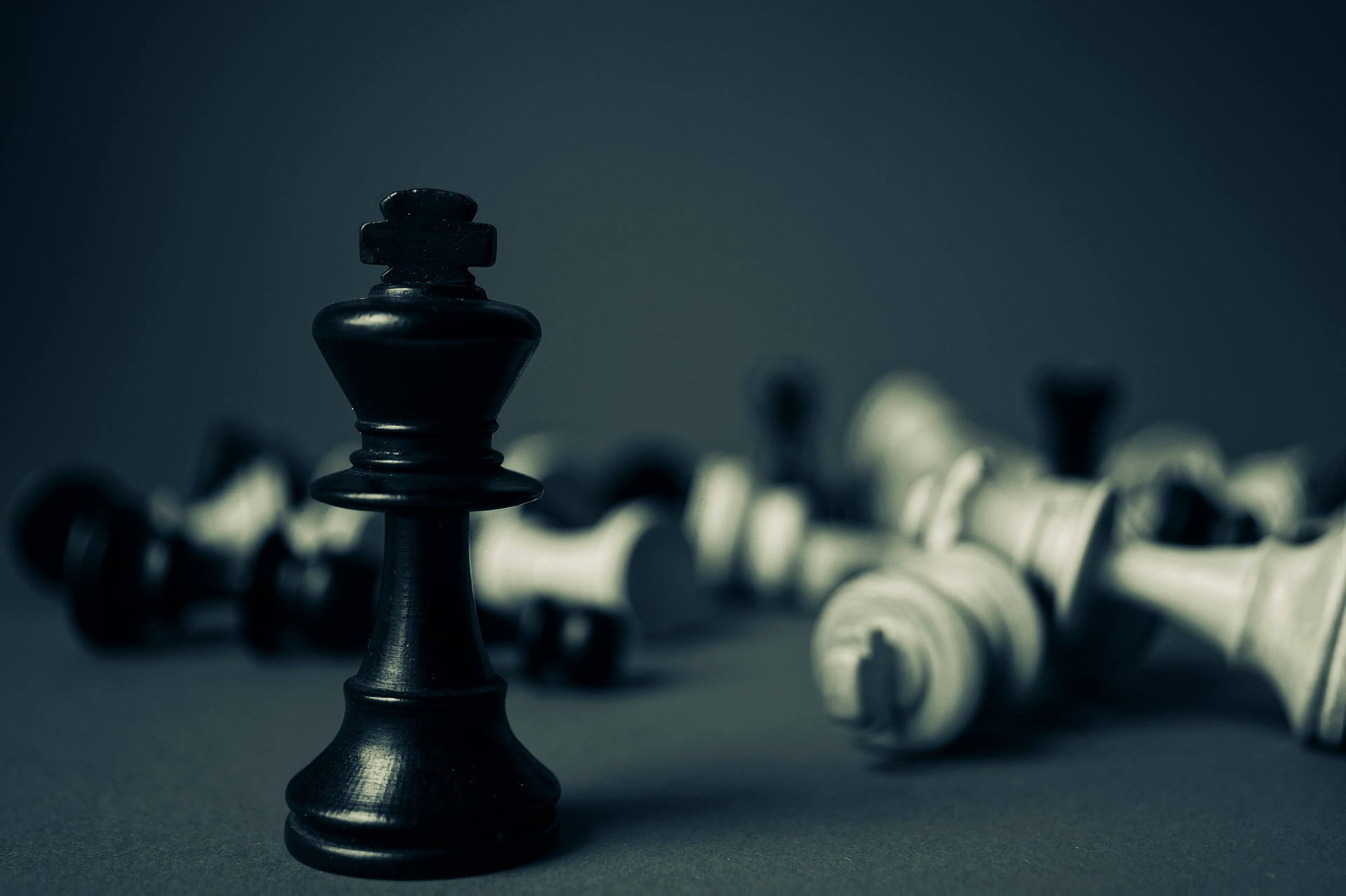 Chessboard Fallen Pieces