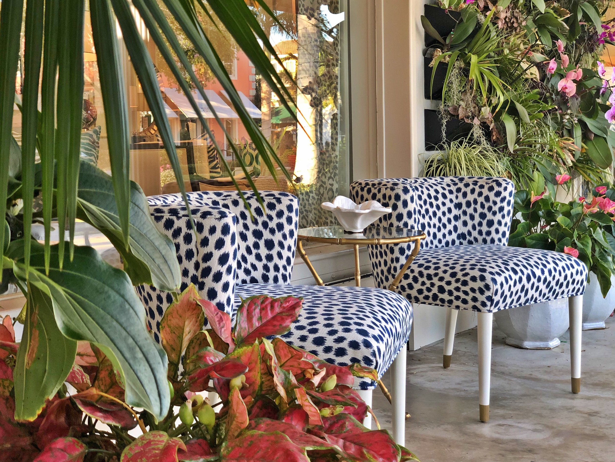 Ikat Dot Upholstered Chairs