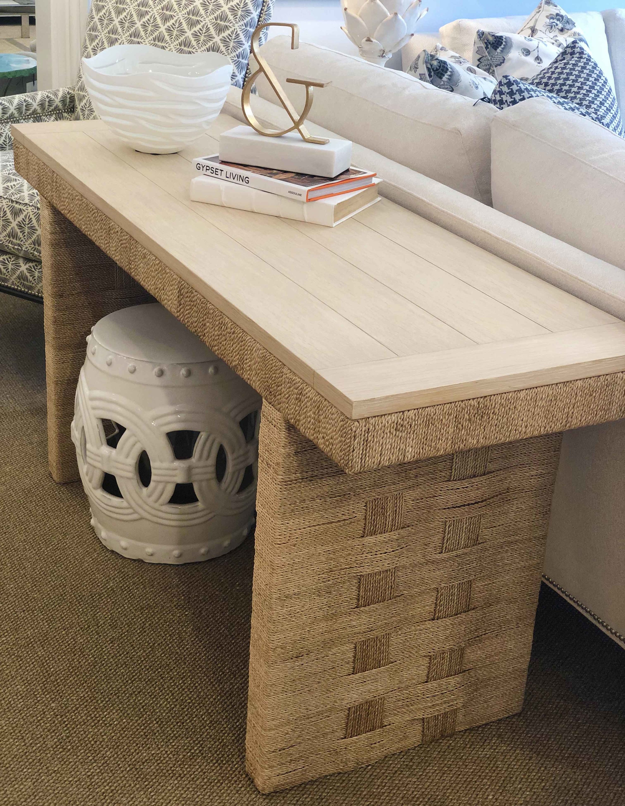 Timeless Rattan Console