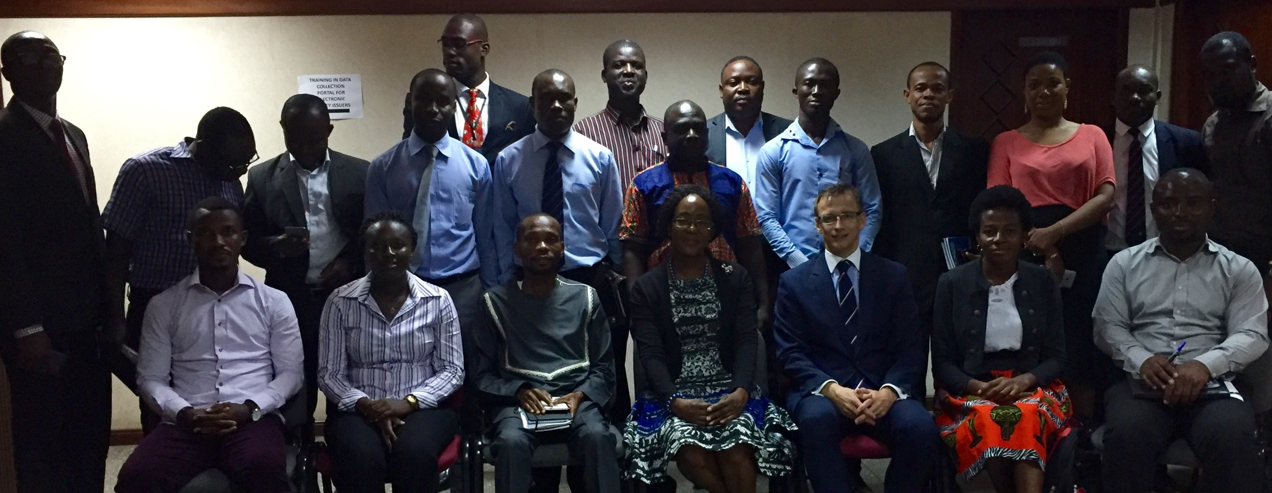 With a group of journalists in Accra, Ghana