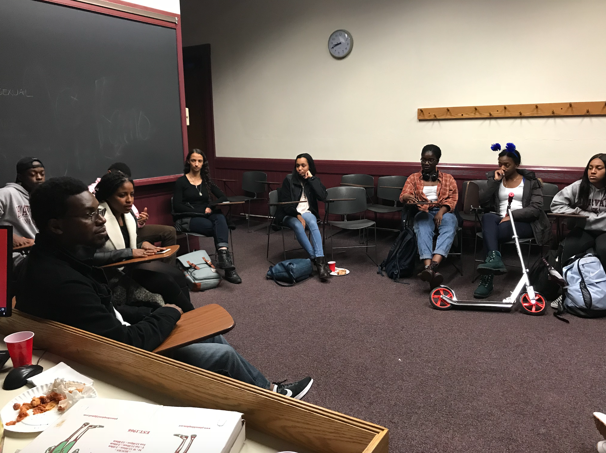 Students and members from Harvard's Black Law Students Association (BLSA) discuss affirmative action