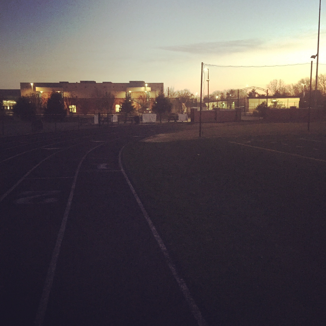 What 6 am at the track looks like