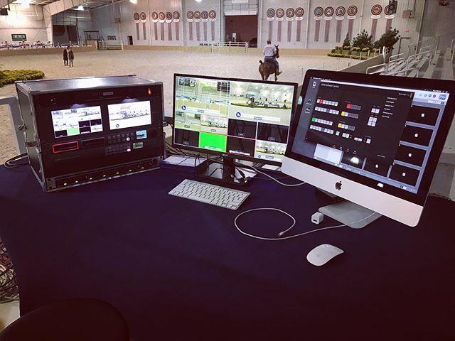 Control desk #views with chroma keyed gfx