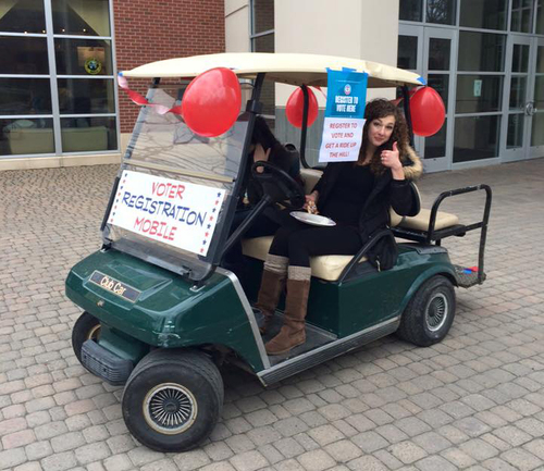 Beep beep! Here comes the Voter Registration Mobile.