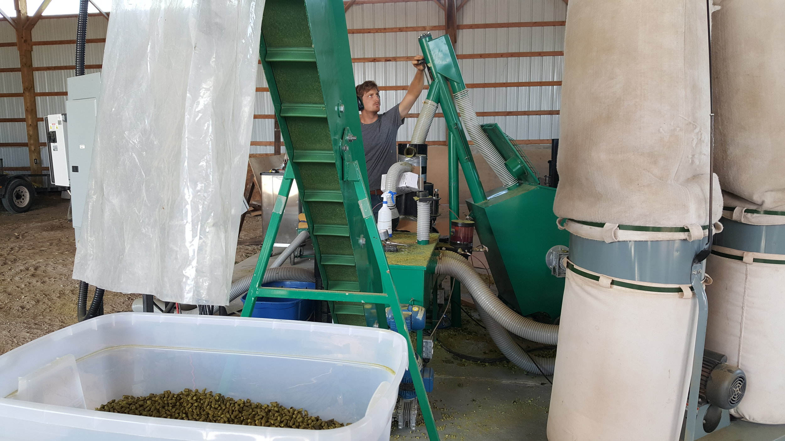 Scott pelletizing hops (2017)