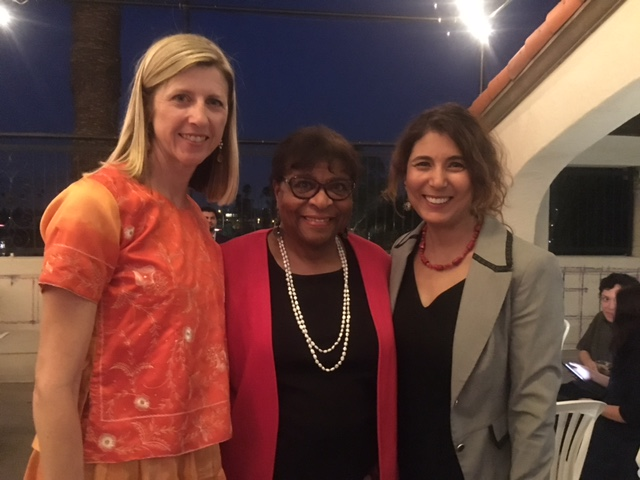 Sherry mackay and Dr. nielsen with Dr. Yolanda moses of UCR