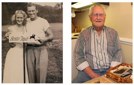Willie Reid with his wife of 65 years in the 1930's and Willie now in 2015.