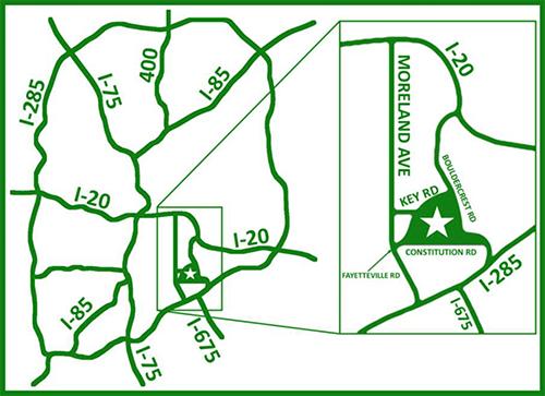 Prison Farm Location Map