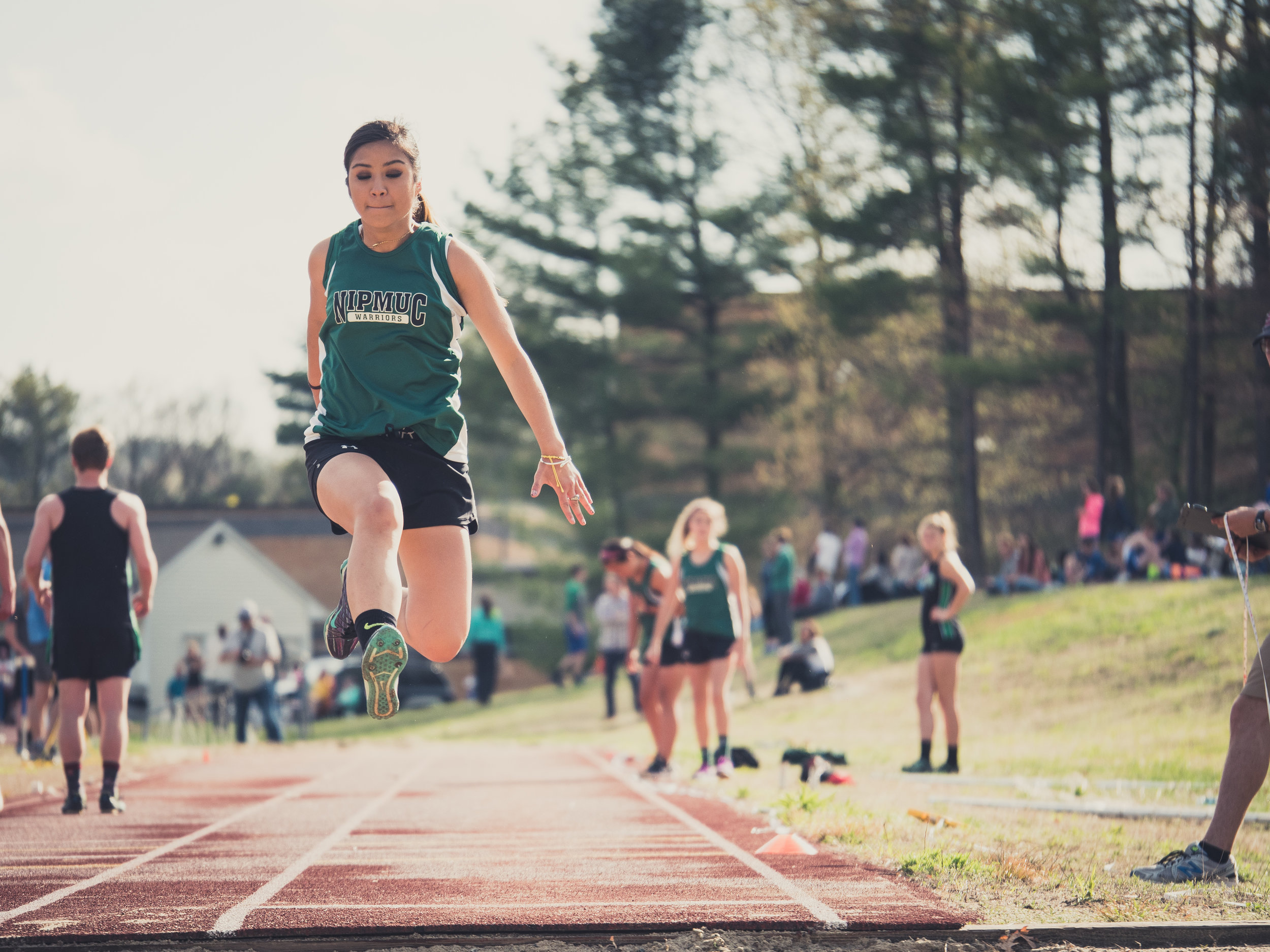 The first event was the Triple Jump. I took a lot of shots as the girls advanced in rounds but this one is my favorite.